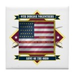 9th Indiana Volunteer Infantr Tile Coaster