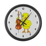 Cello Chick Large Wall Clock