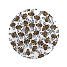 "Honeybee Swarm 3.5"" Button (100 pack)"