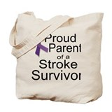 Proud Parent with ribbon Tote Bag