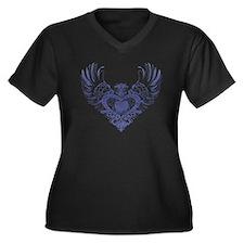 Pekingese Women's Plus Size V-Neck Dark T-Shirt