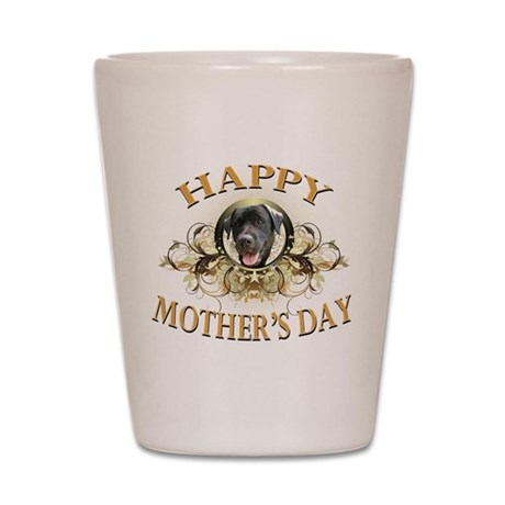 Happy Mother's Day Black Labrador Shot Glass