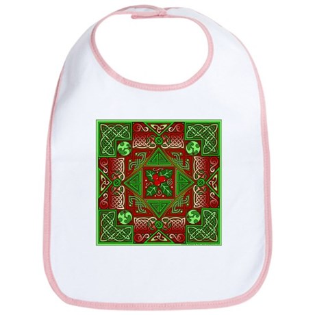 Celtic Labyrinth Holly Bib
