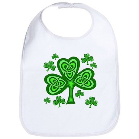 Celtic Shamrocks Bib