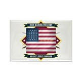 21st Illinois Infantry Rectangle Magnet