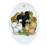 Flower Garden Silkies Ornament (Oval)