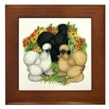 Flower Garden Silkies Framed Tile
