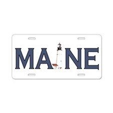 Maine Lighthouse Aluminum License Plate