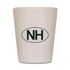 NH Oval Shot Glass