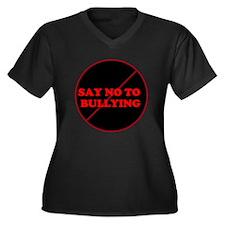 Funny Violent Women's Plus Size V-Neck Dark T-Shirt