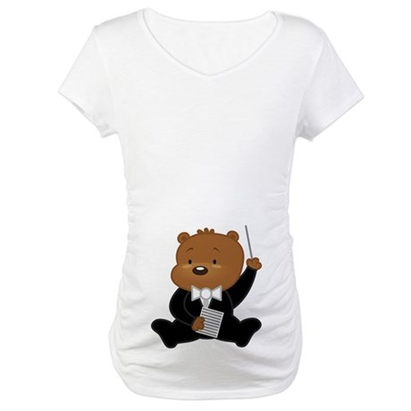Music Conductor Belly Print Maternity T-Shirt