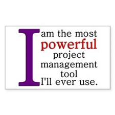 Project Management Tool Decal