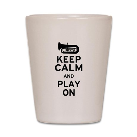 Keep Calm Tuba Shot Glass