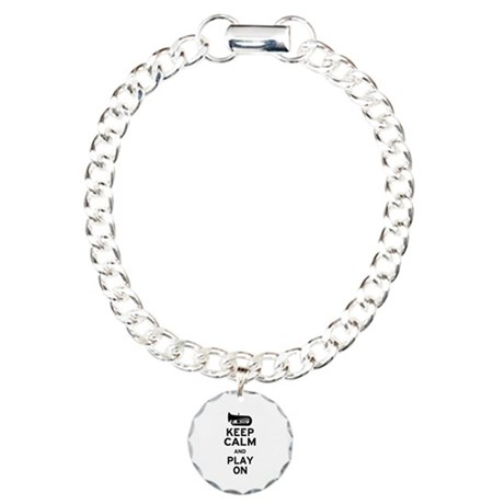 Keep Calm Tuba Charm Bracelet, One Charm