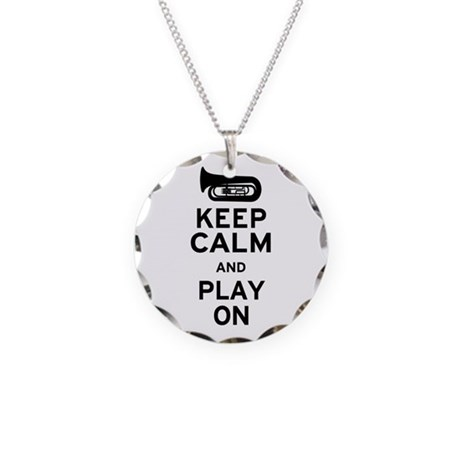 Keep Calm Tuba Necklace Circle Charm