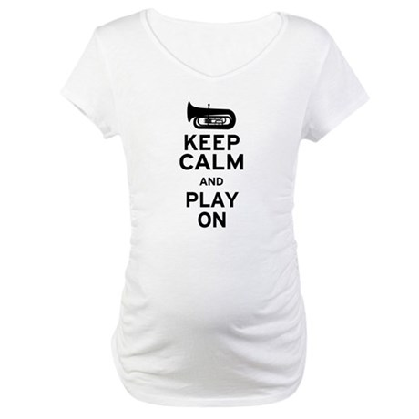 Keep Calm Tuba Maternity T-Shirt