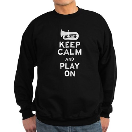 Keep Calm Tuba Sweatshirt (dark)