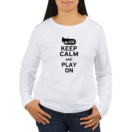 Keep Calm Tuba Women's Long Sleeve T-Shirt