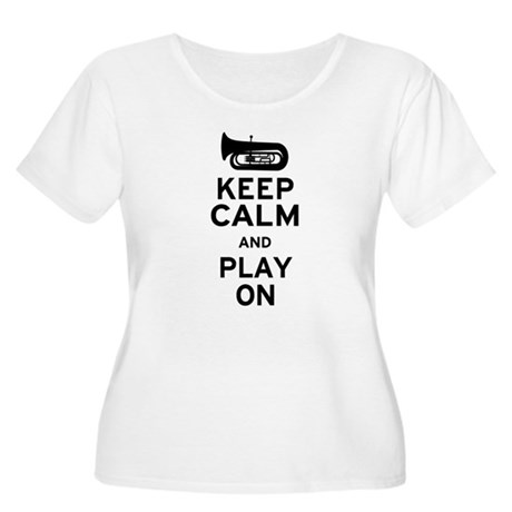 Keep Calm Tuba Women's Plus Size Scoop Neck T-Shir