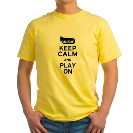 Keep Calm Tuba Yellow T-Shirt