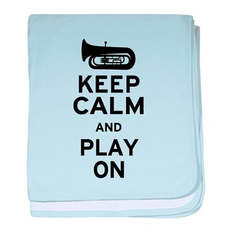 Keep Calm Tuba baby blanket
