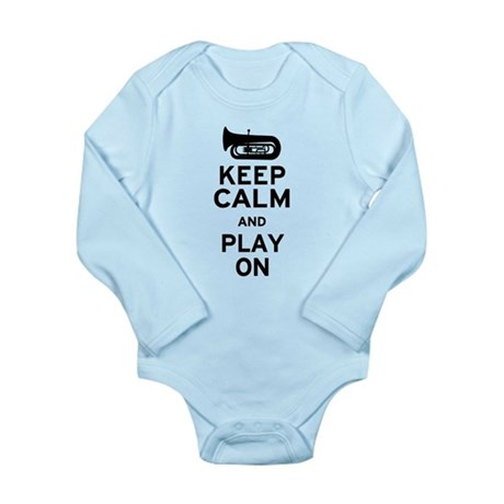 Keep Calm Tuba Long Sleeve Infant Bodysuit