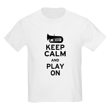 Keep Calm Tuba Kids Light T-Shirt
