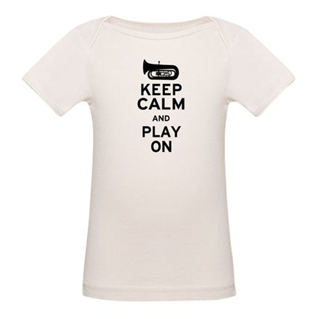 Keep Calm Tuba Organic Baby T-Shirt