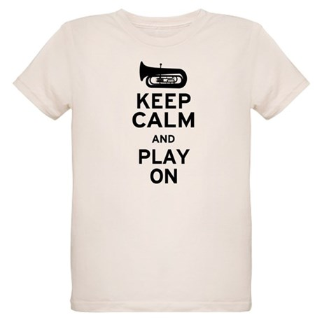 Keep Calm Tuba Organic Kids T-Shirt