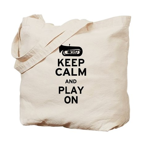 Keep Calm Tuba Tote Bag