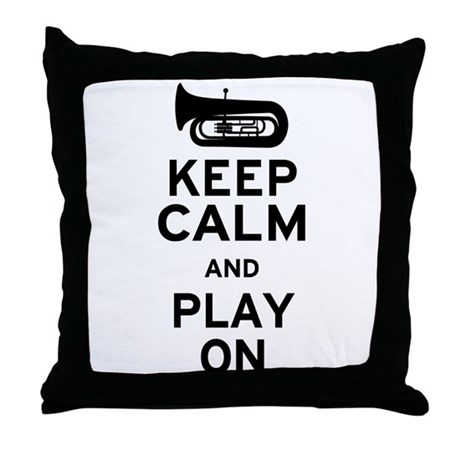 Keep Calm Tuba Throw Pillow