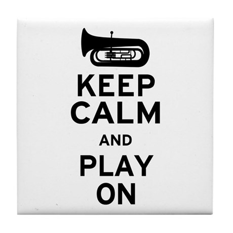 Keep Calm Tuba Tile Coaster