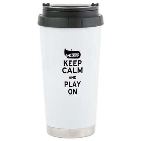 Keep Calm Tuba Ceramic Travel Mug