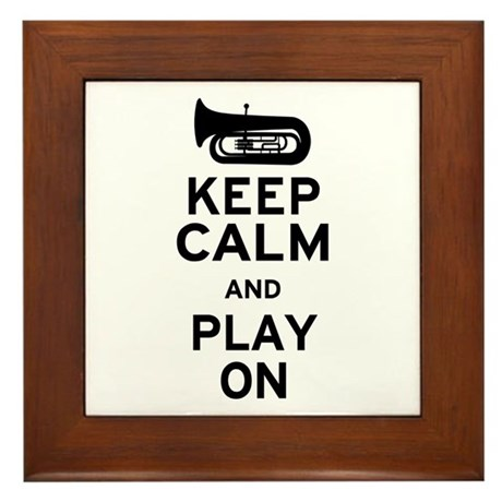 Keep Calm Tuba Framed Tile