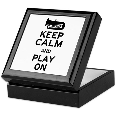 Keep Calm Tuba Keepsake Box