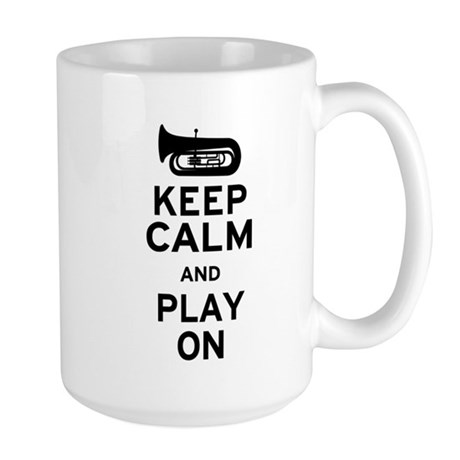 Keep Calm Tuba Large Mug