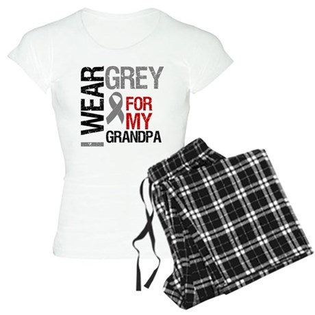 I Wear Grey Grandpa Women's Light Pajamas