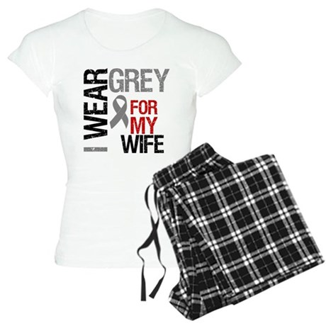 I Wear Grey (Wife) Women's Light Pajamas