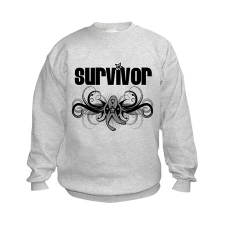 Diabetes Survivor Deco Kids Sweatshirt