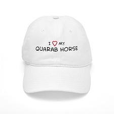 I Love Quarab Horse Baseball Cap