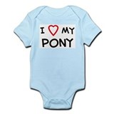 I Love pony Infant Creeper