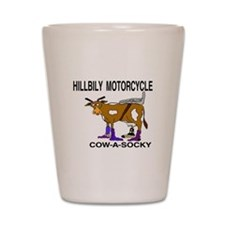 cow-a-socky Shot Glass