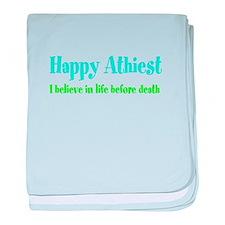Cute Happy humanist baby blanket