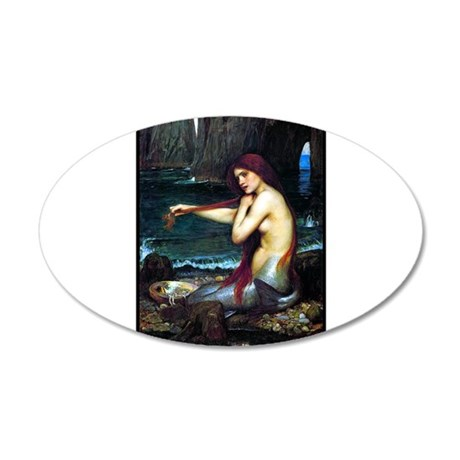 Best Seller Merrow Mermaid 38.5 x 24.5 Oval Wall P