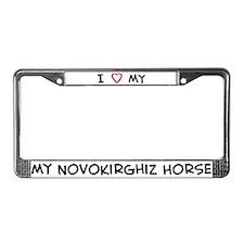 I Love Novokirghiz Horse License Plate Frame