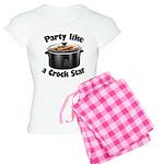 Party Like A Crock Star Women's Light Pajamas