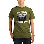 Party Like A Crock Star Organic Men's T-Shirt (dar
