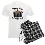 Party Like A Crock Star Men's Light Pajamas