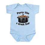 Party Like A Crock Star Infant Bodysuit