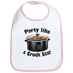 Party Like A Crock Star Bib